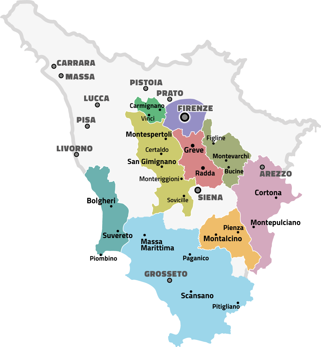 map tuscany wineries